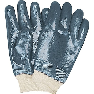 Zenith Safety Heavyweight Nitrile Fully Coated Knit Wrist Gloves, Size 8, 24/Pack