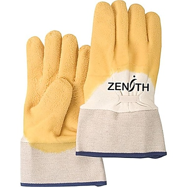 Zenith Safety Natural Rubber Latex Palm Coated Crinkle Finish Gloves, Size 10, 24/Pack