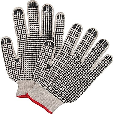 Zenith Safety Natural Poly/Cotton Both Sides Dotted Gloves, Medium Size, 120/Pack