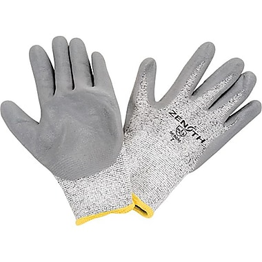 Zenith Safety HPPE Nitrile-Coated Gloves, Size 8, 6/Pack