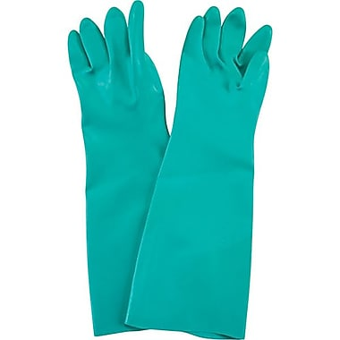 Zenith Safety Unlined Green Nitrile Gloves, Size 10, 12/Pack