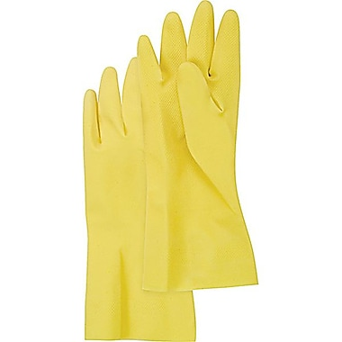 Zenith Safety Natural Rubber Latex Cotton Flock Lined Gloves , Size 10, 72/Pack