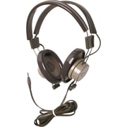 Califone® 610 Binaural Headphones, Gray/Beige