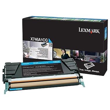 Lexmark X746 Cyan Return Program Toner Cartridge (X746A1CG)