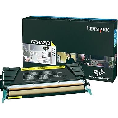 Lexmark – Cartouche de toner jaune C734/X734 (C734A2YG)