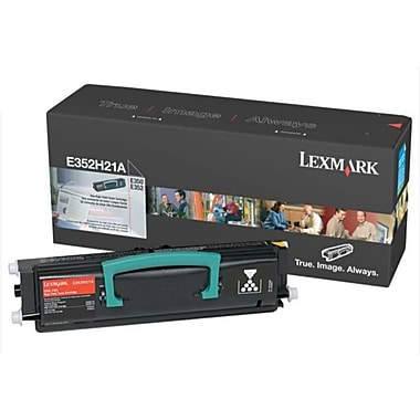 Lexmark E350 Black Toner Cartridge (E352H21A), High Yield