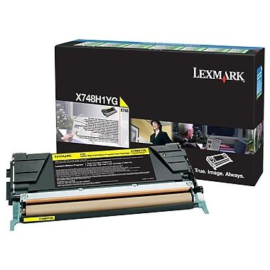Lexmark – Cartouche de toner jaune X748 avec programme de retour, X748H1YG, haut rendement
