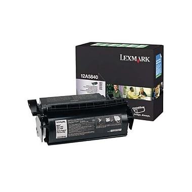 Lexmark – Cartouche de toner noir 12A5840, avec programme de retour