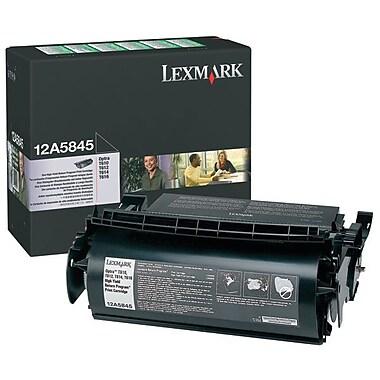 Lexmark – Cartouche de toner noir 12A5845, avec programme de retour, haut rendement