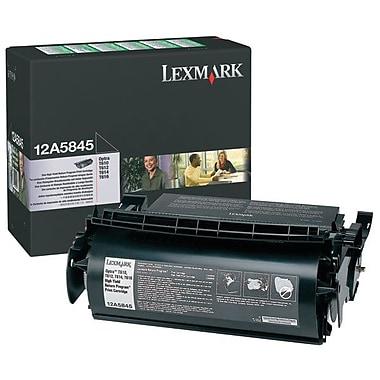 Lexmark 12A5845 Black Return Program Toner Cartridge, High Yield (12A5845)