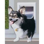 Perfect Pet 11-1/2'' X 77-5/8-80-3/8'' Medium White Modular Pet Patio Door; Mill