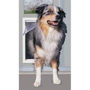 Perfect Pet 10-1/2'' X 15'' XL White Modular Pet Patio Door; Mill