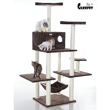 GleePet 68'' Cat Tree; Coffee Brown