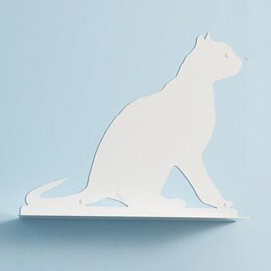 The Refined Feline Silhouette Gaze Cat Perch; Titanium