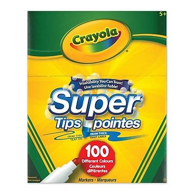 Crayola® – Marqueurs lavables Super pointes, paq./100