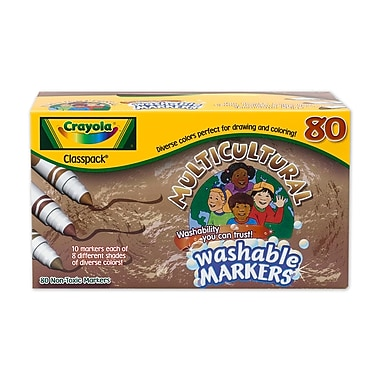 Crayola® Multicultural Marker Classpack®, Assorted, 80/Pack