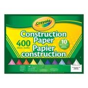 Crayola - Papier de bricolage, 400 feuilles, 10 couleurs
