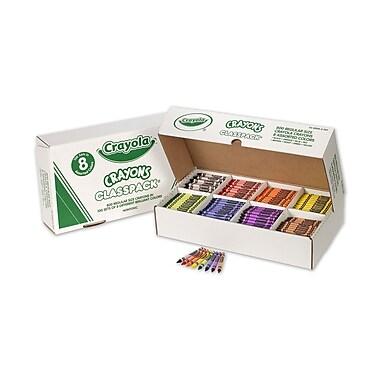 Crayola - Crayons Classpack, réguliers, couleurs variées, 8 couleurs, 800/paquet