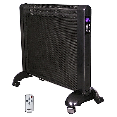 Optimus H-8412 Micathermic Flat-Panel Heater With Remote Control, Black