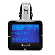 """Supersonic® IQ-206 Wireless FM Transmitter With 1.4"""" Display, Black"""