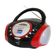 Supersonic® SC-508 Portable MP3/CD Player W/AM/FM Radio, Red