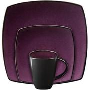Gibson® Home Soho Lounge Dinnerware Set, 16 Piece, Purple