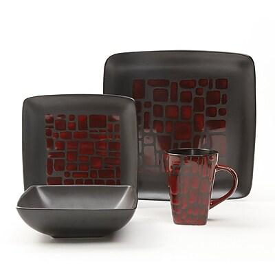 Gibson® Cabazon Dinnerware Set, 16 Piece, Red