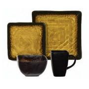 Gibson® Elite Suniva Square Dinnerware Set, 16 Piece, Brown