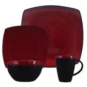 Gibson® Home Soho Lounge Dinnerware Set, 16 Piece, Red