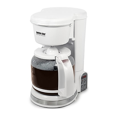 Better Chef 12-Cup Digital Programmable Coffeemaker, White 520563