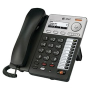 "AT&T Syn248 2 3/4"" LCD 8 Line Corded Deskset VoIP Phone, Black/Silver"