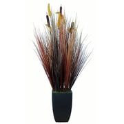 "Laura Ashley® 48"" Silk Onion Grass in Contemporary Planters"