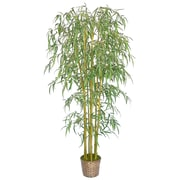 Laura Ashley® 6ft Silk Bamboo Tree with Wicker Basket Planter