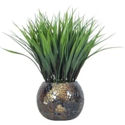 "Laura Ashley 11 1/2"" Tall Grass in Mosaic Container"