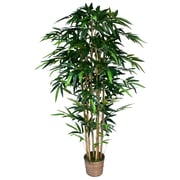 "Laura Ashley 72"" High End Realistic Silk Bamboo Tree in Wicker Basket Planter"