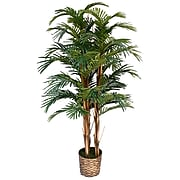 """Vintage Home 60"""" High End Realistic Silk Palm Tree in Wicker Basket Planter"""