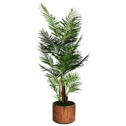 "Laura Ashley 81"" Areca Palm Tree in 16"" Fiberstone Planter"