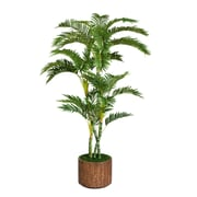 "Laura Ashley 77"" Palm Tree in 16"" Fiberstone Planter"