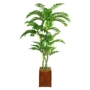 "Laura Ashley 81"" Palm Tree in 13"" Fiberstone Planter"