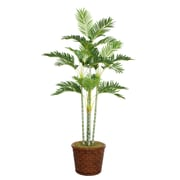 "Laura Ashley 73"" Palm Tree in 17"" Fiberstone Planter"