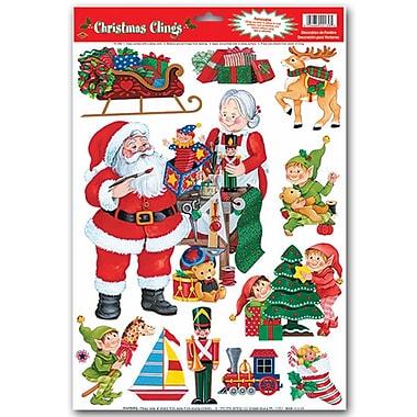 Autocollants « Atelier du père Noël », 12 x 17 po, 66/boîte