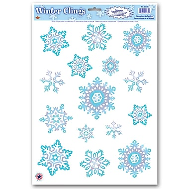 Crystal Snowflake Clings, 12