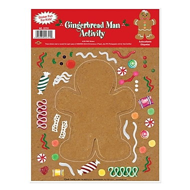 Gingerbread Man Sticker Activity, 9