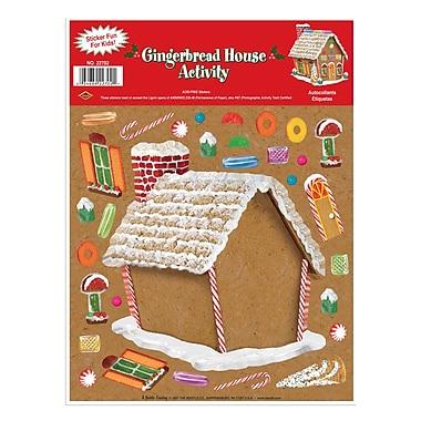 Autocollants à assembler « Maison en pain d'épice », 9 x 12 po, paquet de 6
