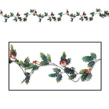 Beistle 6' Holly and Berry Garland, 2/Pack