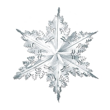 Silver Metallic Winter Snowflake, 24