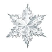 Flocon de neige argenté et métallisé, 24 po, paquet de 3