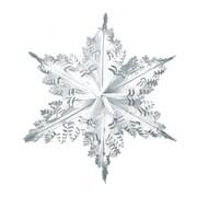 "Silver Metallic Winter Snowflake, 24"", 3/Pack"