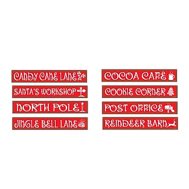 North Pole Street Sign Cutouts, 4