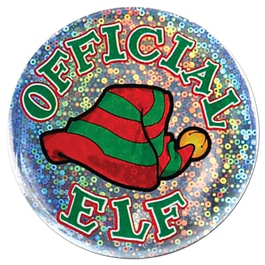 Official Elf Button, 3-1/2